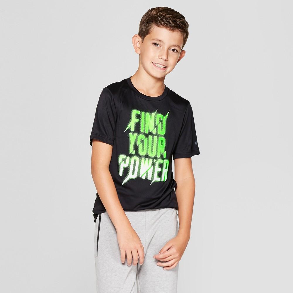 Boys' Graphic Tech T-Shirt Find Your Power - C9 Champion Black L