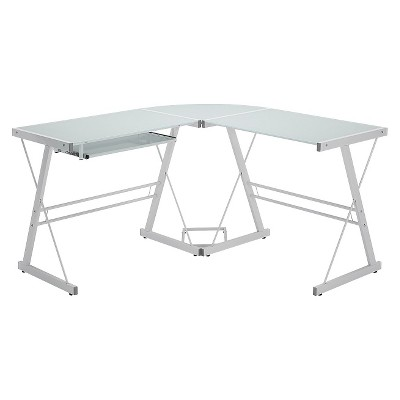 Home Office 51  L - Shaped Corner Computer Desk - White - Saracina Home