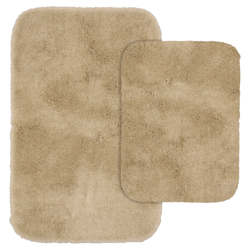 2pc Finest Luxury Ultra Plush Washable Nylon Bath Rug Set Linen - Garland was $33.49 now $21.99 (34.0% off)