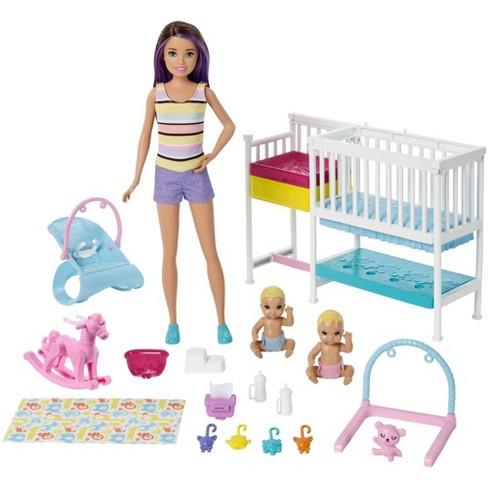 Barbie Skipper Babysitters Inc Nap 'n' Nurture Nursery Dolls and Playset - image 1 of 4