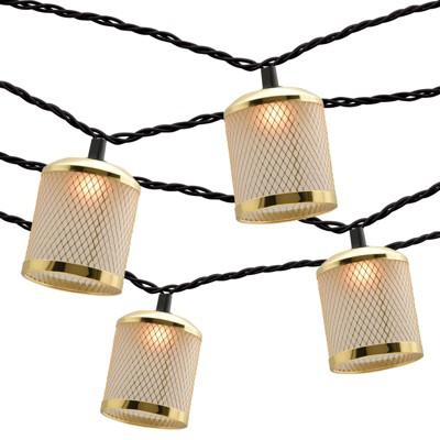 10ct String Lights - Wire Mesh Gold - Threshold™