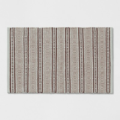 Blush Zig Zag Woven Accent Rug 2'X3' - Project 62™