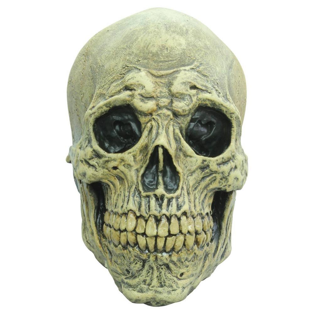Image of Death Skull Adult Latex Mask Bone, Adult Unisex, Beige