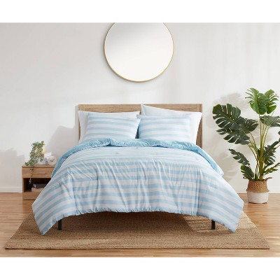 Harper Stripe Comforter & Sham Set - Refinery29