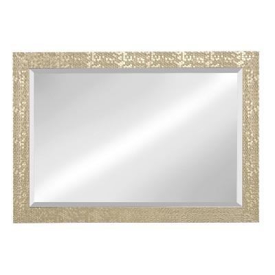 Kate & Laurel 29 x41  Coolidge Framed Beveled Decorative Wall Mirror Light Gold