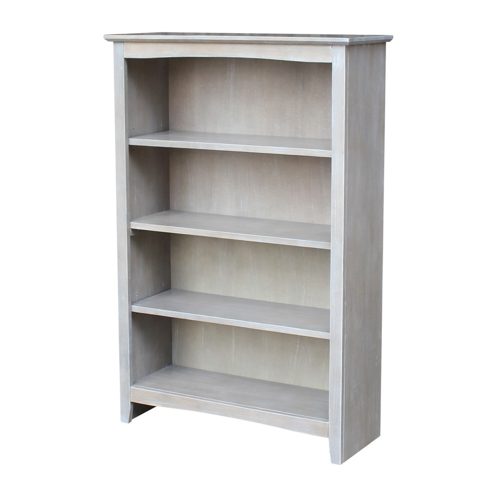 Shaker 48 Bookcase - Washed Gray Taupe - International Concepts