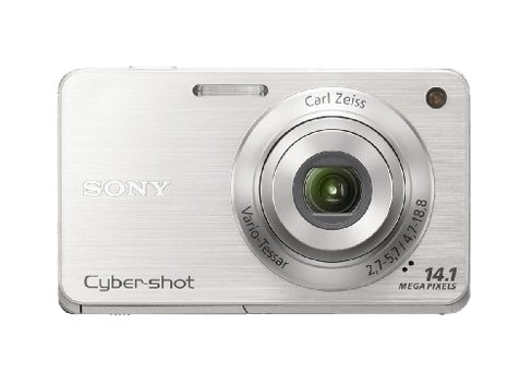 Sony Cyber-shot DSCW560 14.1MP Digital Camera with 4x Optical Zoom - Silver - image 1 of 7