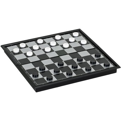 WE Games Foldable Travel Magnetic Checkers Set
