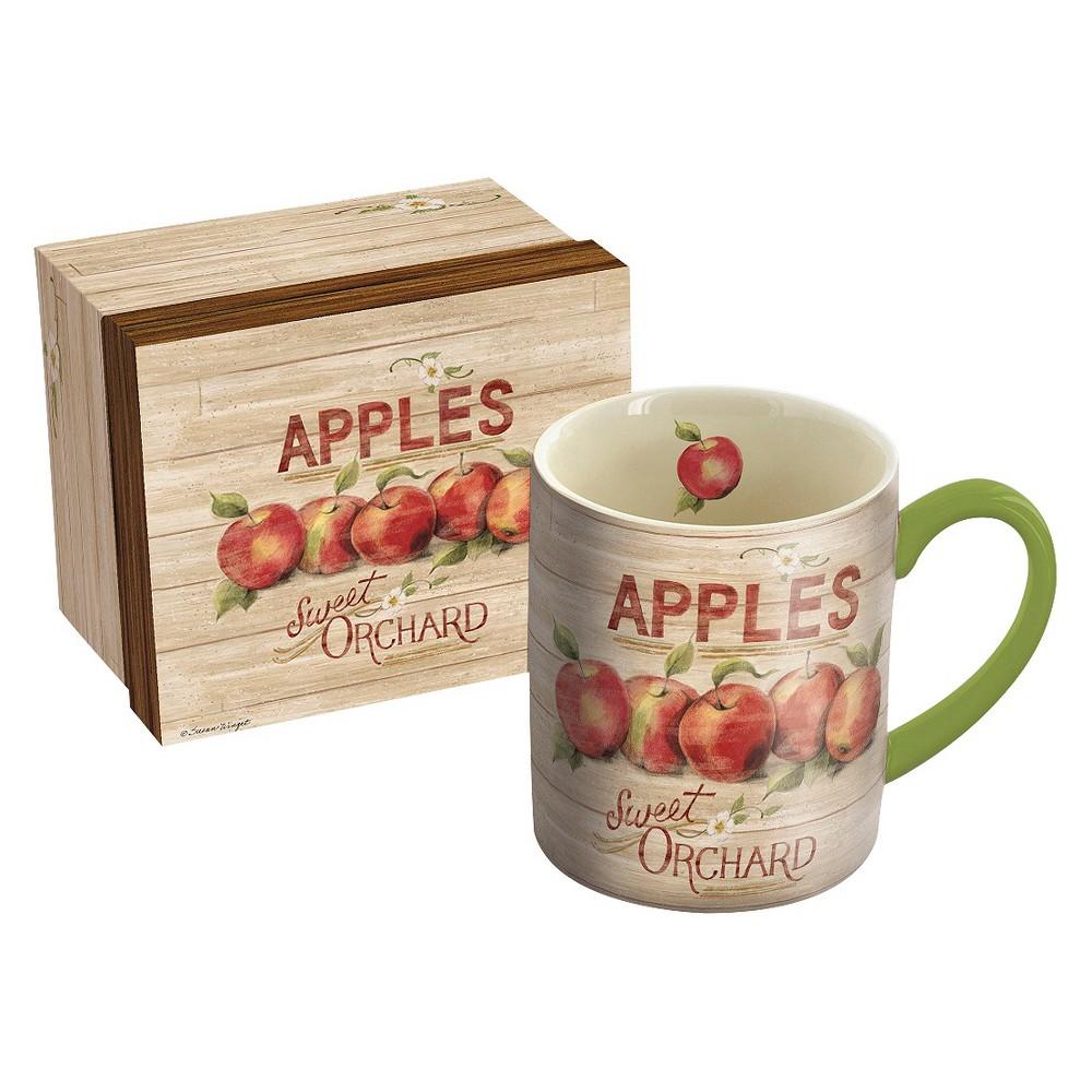 Image of Lang Ceramic Apple Orchard Mug 14 oz, Multi-Colored