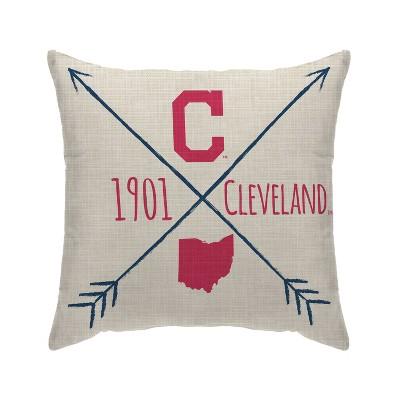 MLB Cleveland Indians Cross Arrow Decorative Throw Pillow