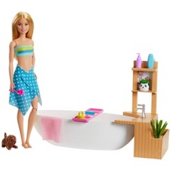 Barbie Fizzy Bath Blonde Doll and Playset