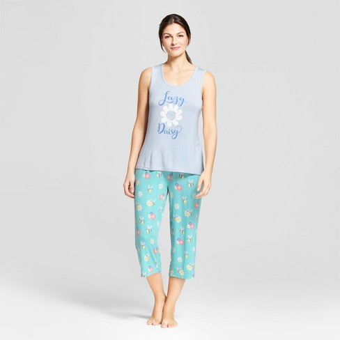 Nite Nite Munki Munki Women s Floral Print Tank and Capri Pajama Set ... 85bcb941c