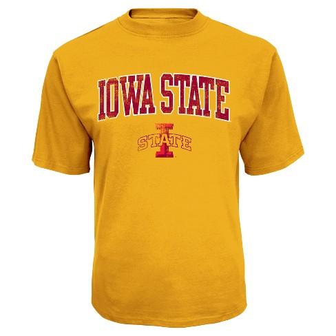 NCAA Iowa State Cyclones Men's Distressed Logo Performance T-Shirt - S - image 1 of 1