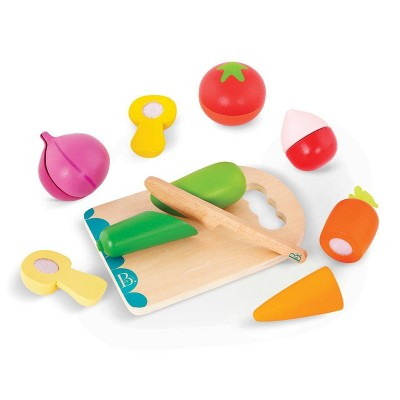 B. toys Wooden Toy Vegetables - Chop 'n' Play