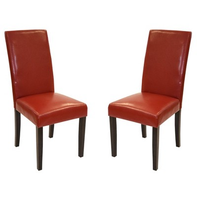 Set of 2 Bonded Leather Side Dining Chair - Armen Living