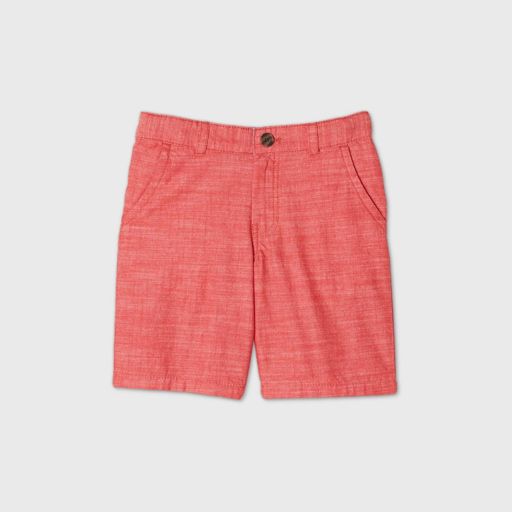 oversizeBoys Flat Front Chino Shorts - Cat & Jack Red 16 Husky Top