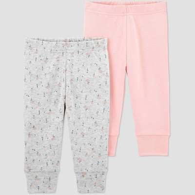 Baby Girls' 2pk Bear Pull-On Pants - Just One You® made by carter's Pink 3M