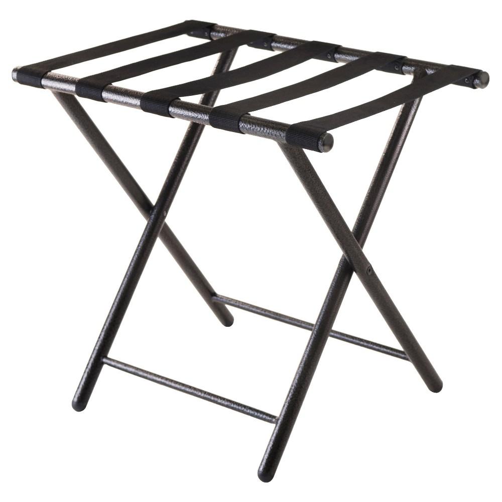 Tavin Luggage Rack, Folding Straight Leg Black - Winsome