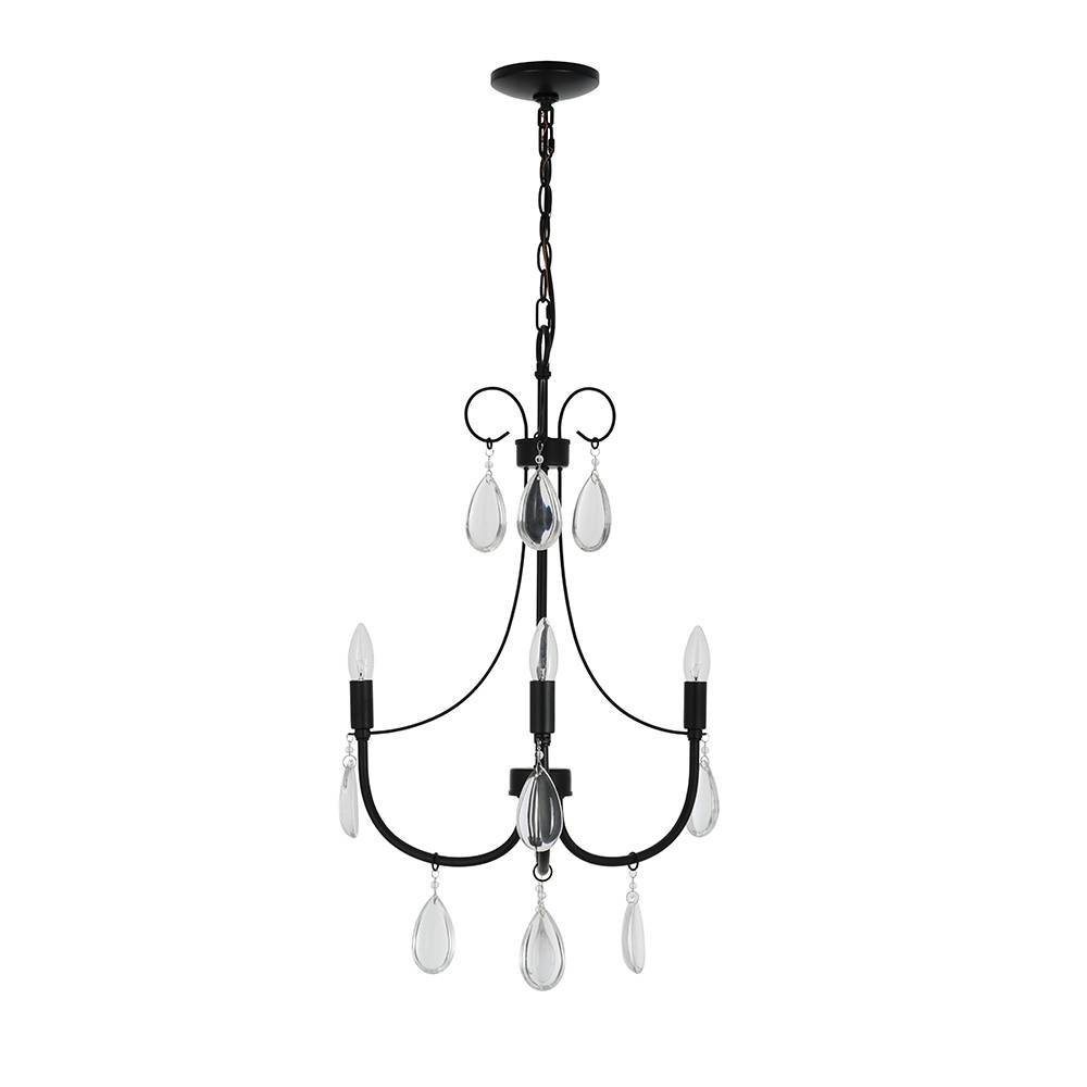 29 5 34 3 Light Chandelier With Glass Beads Includes Light Bulb Cresswell Lighting