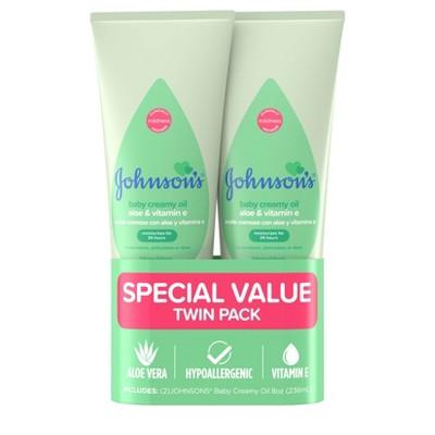 Johnson's Creamy Aloe Oil Twin Pack - 236ml