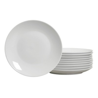 "10.5"" 10pk Porcelain Round Catering Coupe Dinner Plates White - Tabletops Gallery"