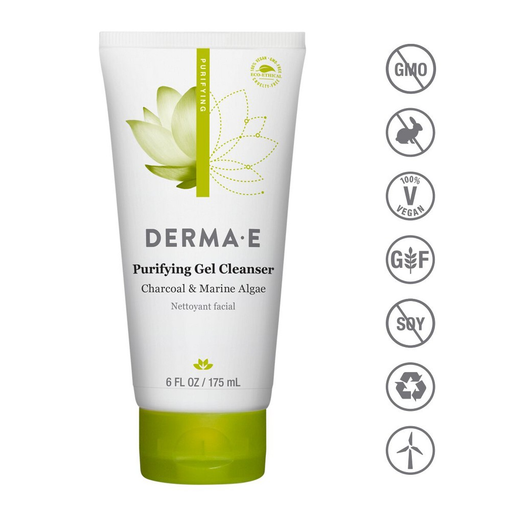 Image of DERMA E Purifying Gel Cleanser - 6oz