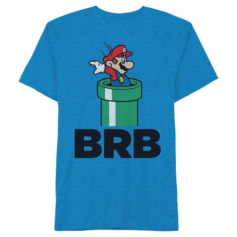 Boys' Nintendo Super Mario BRB T-Shirt - Blue XL - image 1 of 1