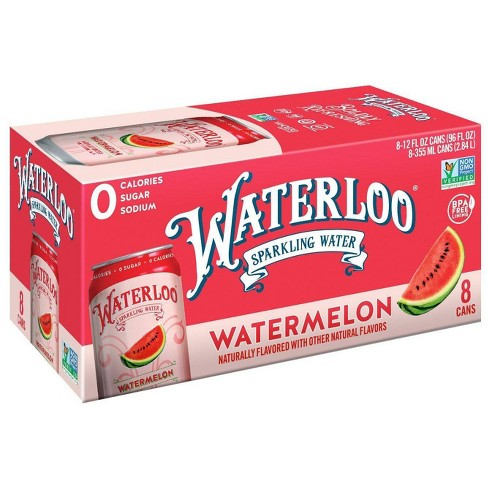 Waterloo Watermelon Sparkling Water - 8pk/12 fl oz Cans - image 1 of 4