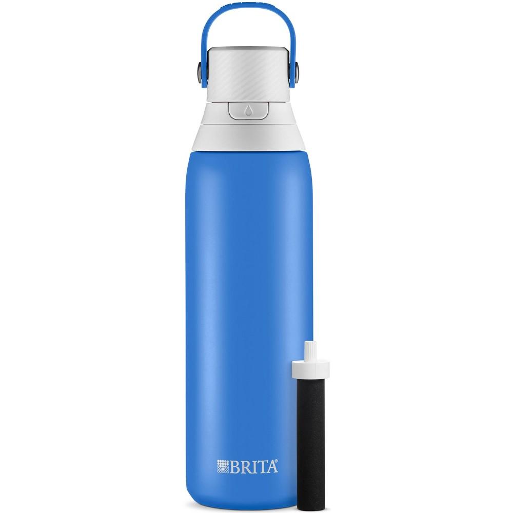 Image of Brita Premium Filtered Water Bottle Stainless - Ocean, Blue