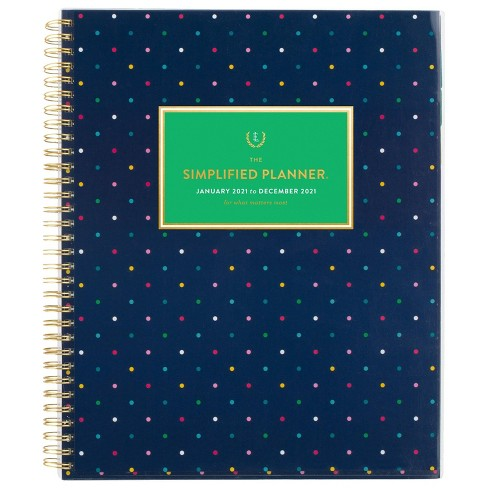 """2021 Planner 8.875"""" x 11"""" CYO Navy Dot - Emily Ley - image 1 of 4"""