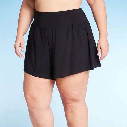 Women's Plus Size Swim Shorts - Aqua Green® - image 1 of 4