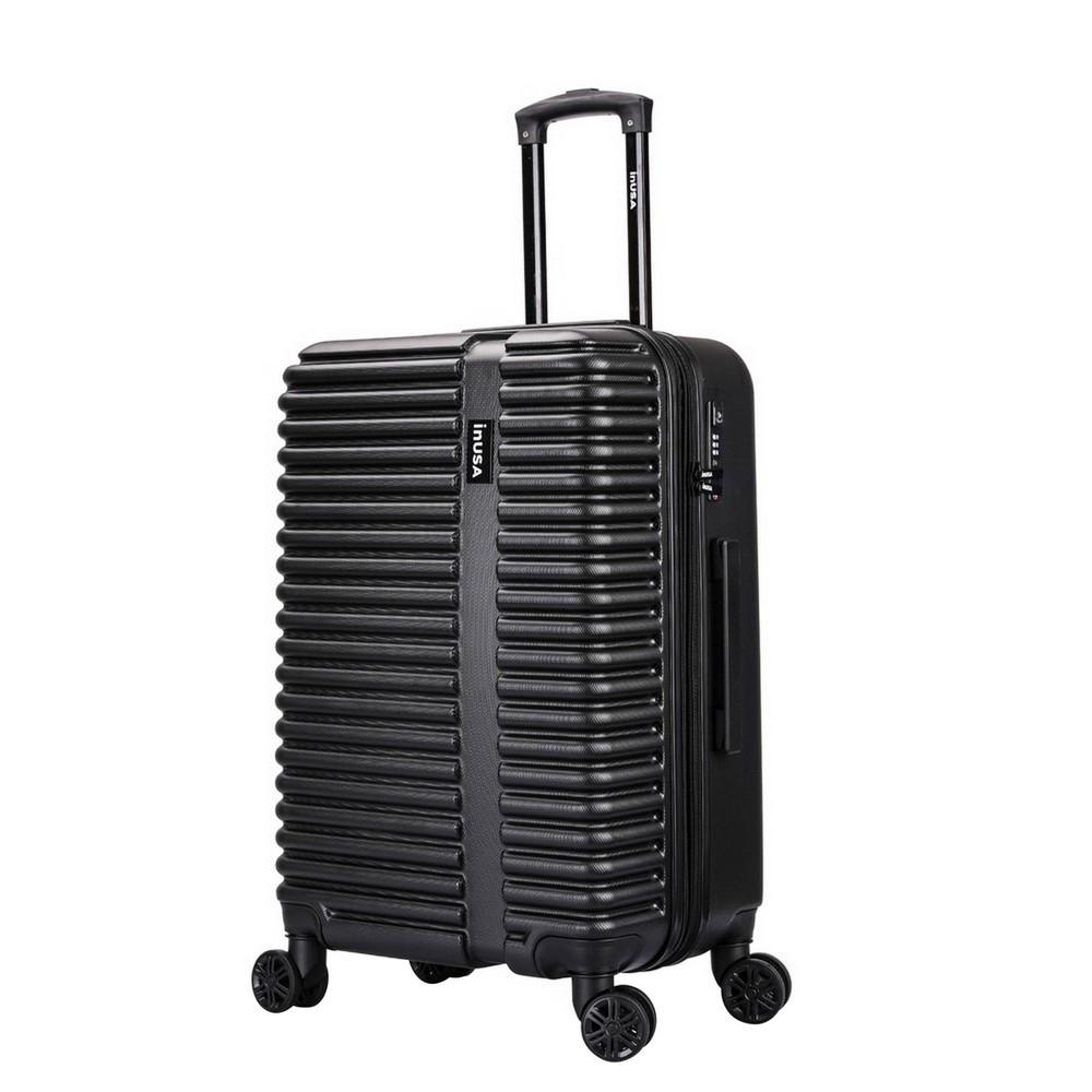 Inusa Ally 24 34 Lightweight Hardside Spinner Suitcase Black