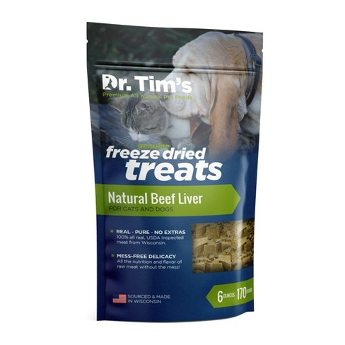 Dr. Tim's Pet Food Freeze Dried Beef Liver - 6oz - image 1 of 2