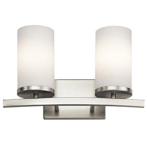 Kichler 45496 Crosby 2 Light Bathroom Vanity Light - Brushed Nickel - image 1 of 1
