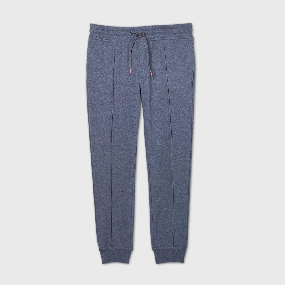 Men 39 S Pintuck Fleece Jogger Pants Goodfellow 38 Co 8482 Blue Xl