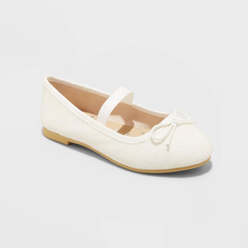Toddler Girls 39 Becca Slip On Ballet Flats Cat 38 Jack 8482 White 8