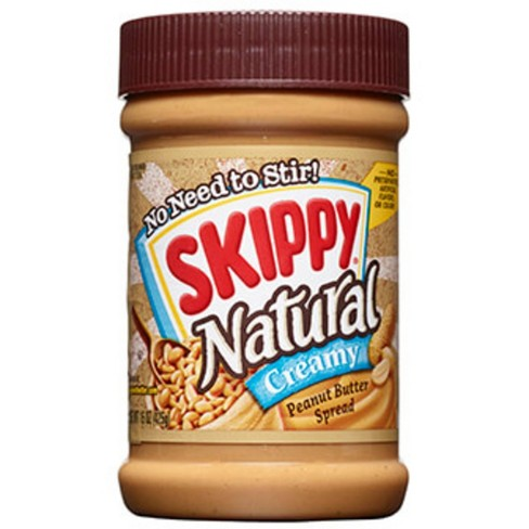 Skippy Natural Creamy Peanut Butter - 15oz - image 1 of 4