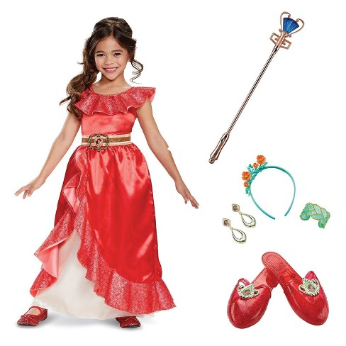 Girls' Elena of Avalor Deluxe Adventure Gown Costume Kit - image 1 of 1