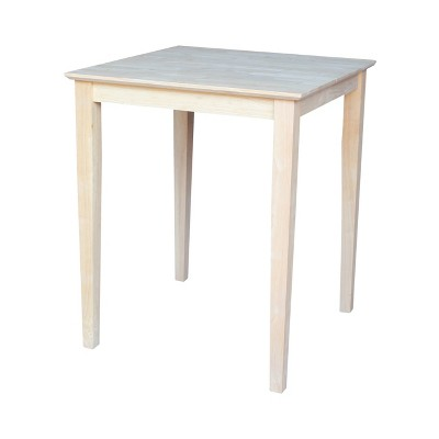 """30"""" Square Solid Wood Tables - International Concepts"""