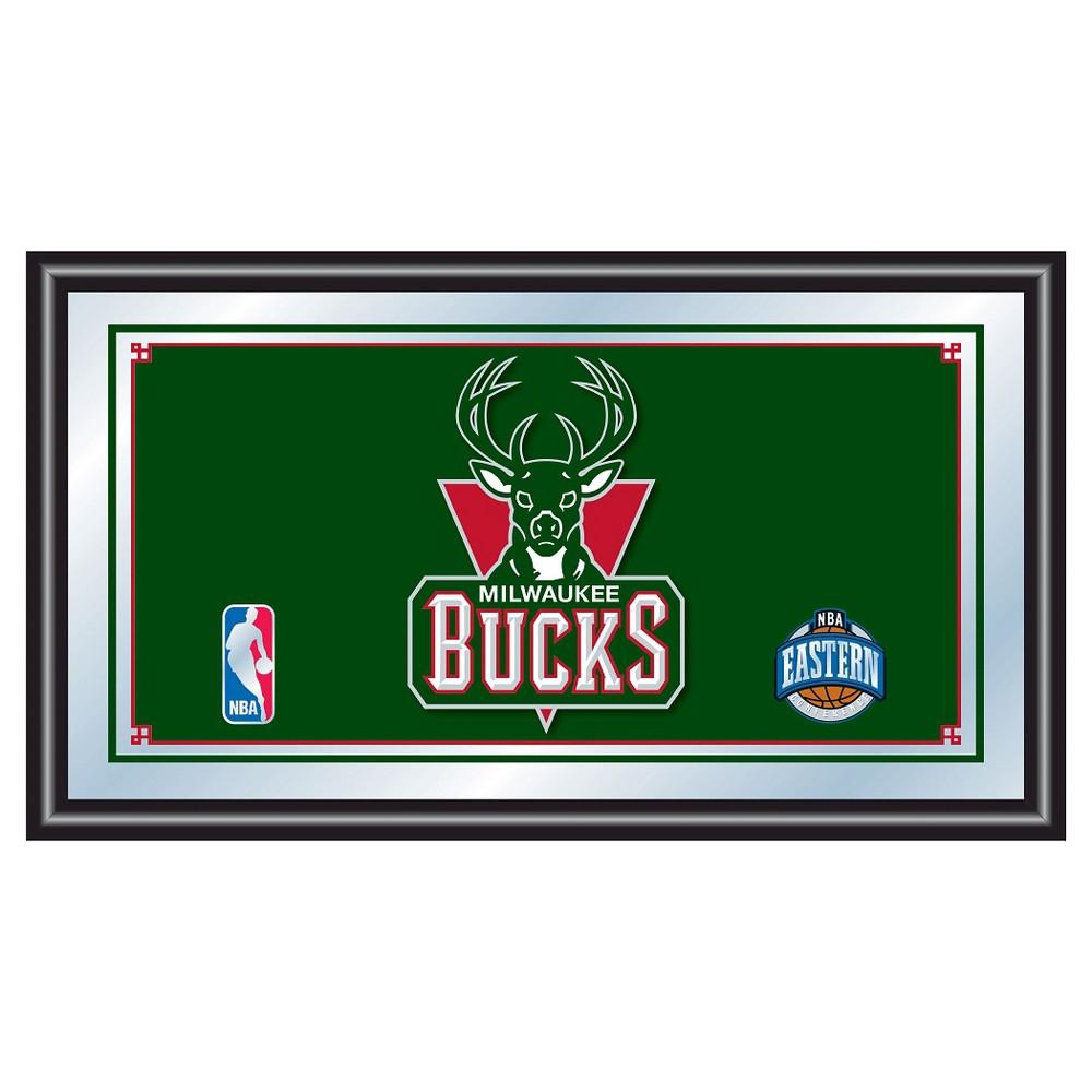 Milwaukee Bucks Team Logo Wall Mirror, Multicolored