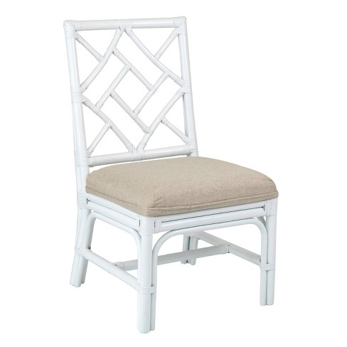 Set of 2 Riana Rattan Dining Chair White - East At Main - image 1 of 4