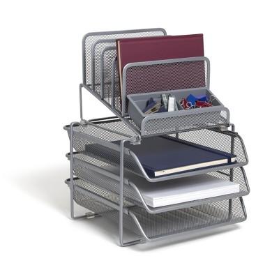 TRU RED All-In-One 10 Compartment Wire Mesh Compartment TR57531-CC