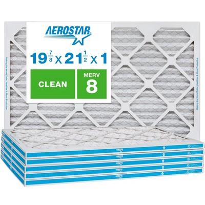 Aerostar AC Furnace Air Filter - Dust - MERV 8 - Box of 6