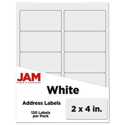 "JAM Paper Mailing Labels 2"" x 4"" 120ct"
