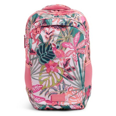 Vera Bradley Women's ReActive XL Backpack Rain Forest Canopy Coral