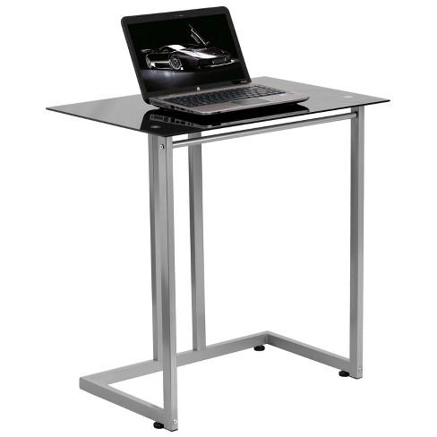 Black Tempered Glass Computer Desk - Flash Furniture - image 1 of 2
