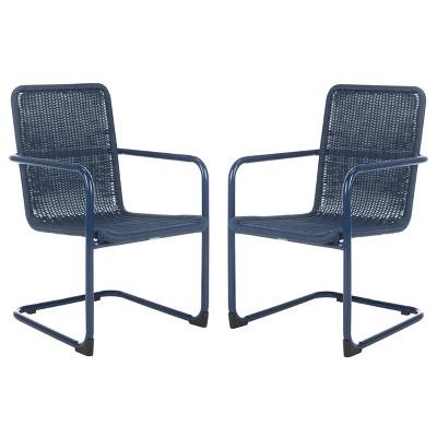 Hutton 2kc Accent Chair - Navy - Safavieh
