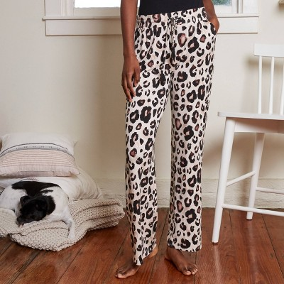 Women's Knit Animal Print Beautifully Soft Pajama Pants - Stars Above™ Oatmeal