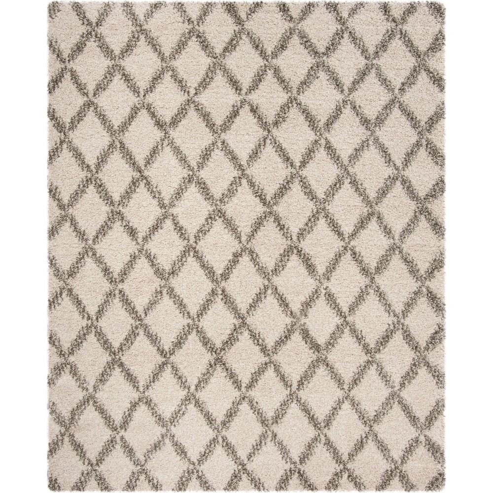 8'X10' Geometric Loomed Area Rug Ivory/Gray - Safavieh
