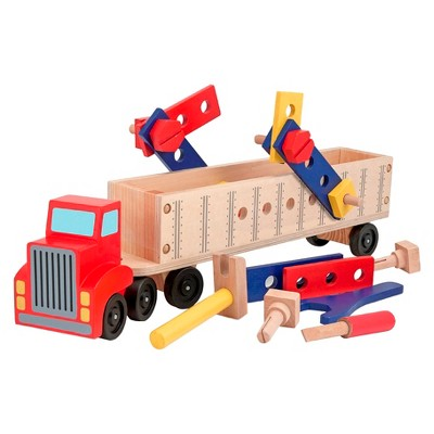 Melissa & Doug Big Rig Truck Wooden Building Set (22pc)